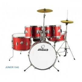 Bateria Acústica Jinbao Junior 1045 (Roja y Negra)