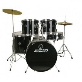 Bateria Acústica Jinbao PO605 Stage 20 Jazz (Negra y Roja)